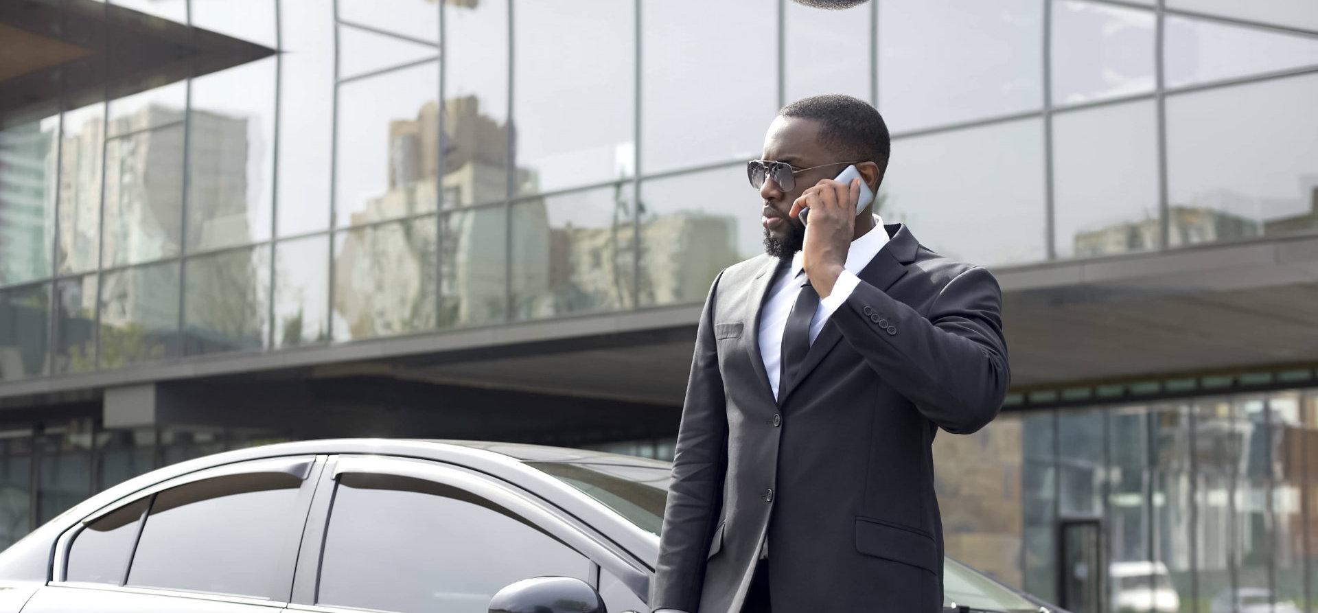 business man making a call