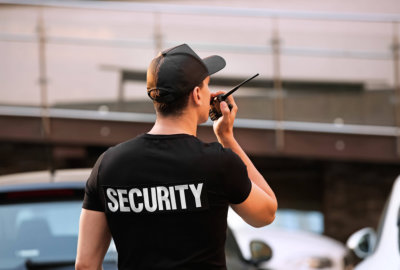 security guarding the place