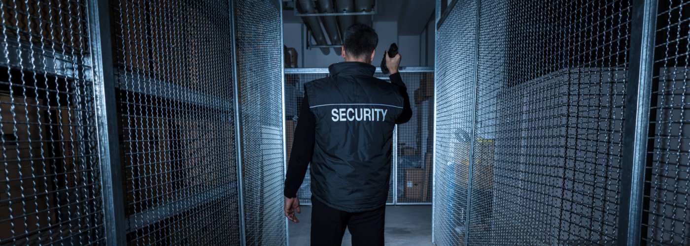 security inspecting a room
